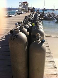 Tanks on Jost Van Dyke