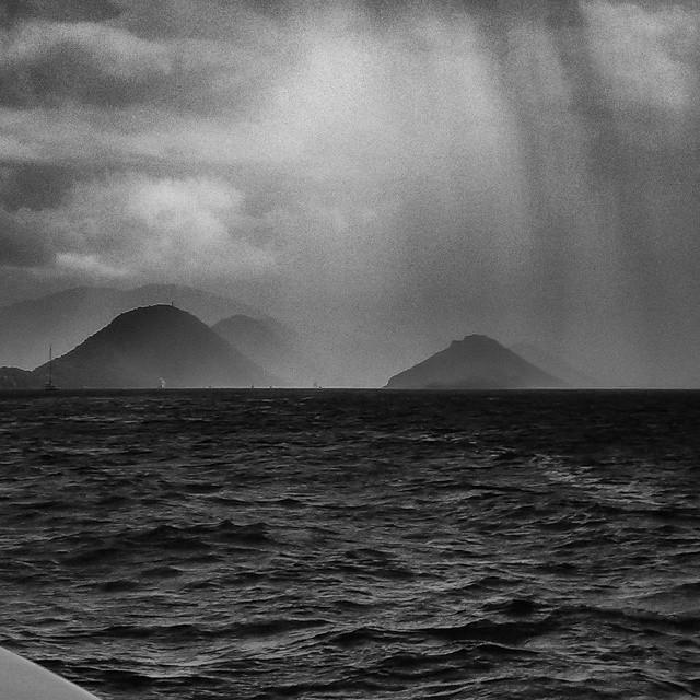 Rain in Paradise.