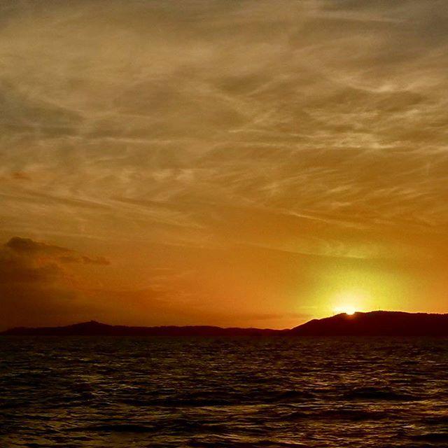 Sunset on Cloud Canvas.
