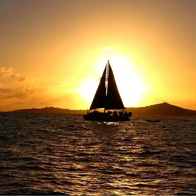 Sunset on the Sound.